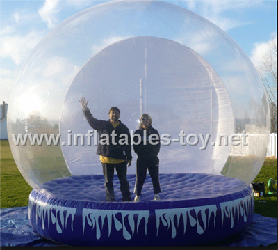 Transparents inflatable snow globe for car show advertising