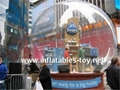 outdoor advertising inflatable snow dome for christmas decoration