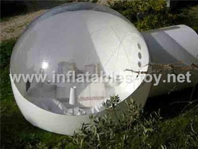 outdoor camping ground bubble tent