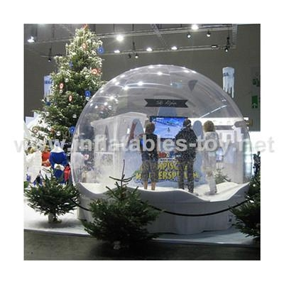 Inflatable snow globe for christmas decorations