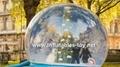 Christmas snow globe with christmas backdrop