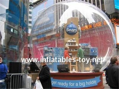 Promotional snow globe for advertising