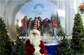 inflatable snow globe for decorations