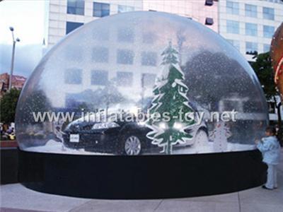 Huge Clear Christmas Car Snow Globe