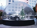 Huge Clear Christmas Snow Globe, Bubble