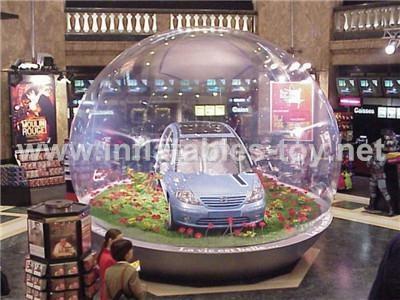 Inflatable Car Exhibition Clear Dome Tent