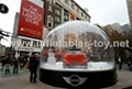 Christmas Snow Globe Car Show Case,