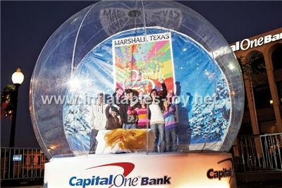 Inflatable Snow Globe for Brand Promotional