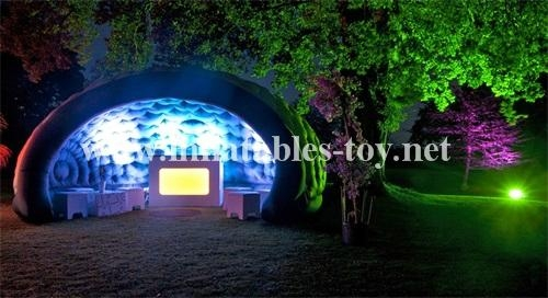 Inflatable Luna White Dome Tent for Exhibition 6