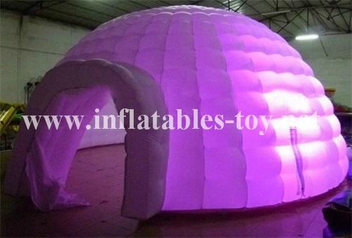 Inflatable Luna White Dome Tent for Exhibition 8