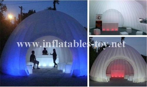 Inflatable Luna White Dome Tent for Exhibition 7