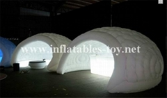 Inflatable Luna White Dome Tent for Exhibition