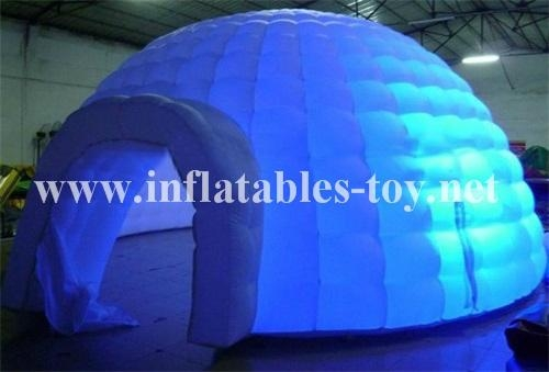 Inflatable Luna White Dome Tent for Exhibition 10
