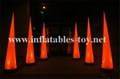 Inflatable lighting cone decoration