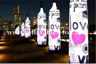 Outdoor Inflatable Advertising Columns,LED Lighting Tubes Decorations 7