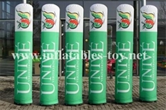 Outdoor Inflatable Advertising Columns,LED Lighting Tubes Decorations