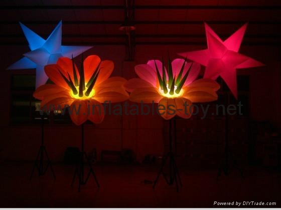 Party Inflatable Flower Decoration, LED Lighting Flower for Wedding Event 5