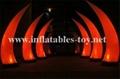 Led light event decor inflatable tusk,led lighting decorations