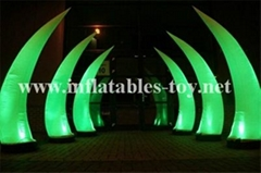 Led light Event Decor Inflatable Tusk,LED Cone Lighting Decorations