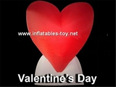 Lighting Inflatable Heart Decorations for Valentine's Day