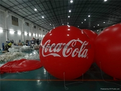Giant Attractive Inflatable Advertising Balloon,Coca-cola Branded Helium Balloon