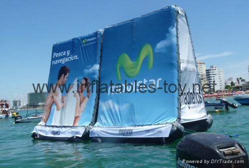 Mobile Advertising Inflatable BillBoard, Airtight Water Billboard 16