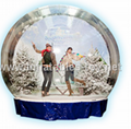 Snow Globe with Christmas Backdrop for Decoration