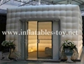 black and white inflatable cube tent