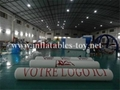 Customized Inflatable Barriers for Goal Games
