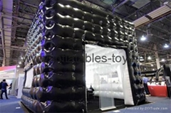 Air Sealed Cube Exhibition Booth, Trade Show inflatable Booth with once time inflate