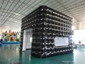 Factory Made Black Inflatable Booth for Trade Show
