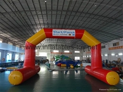 Inflatable Start Finish Line Arches, Floating Water Swimming Race Arch