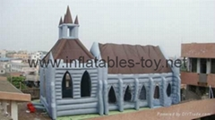 Wedding Inflatable Church Tent , Outdoor InflatableTent, Inflatable Tunnel Tent