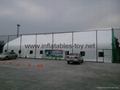 Outdoor Inflatable Paintball Area