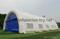 Inflatable Paintball Arena Tent, Airtight Tent Inflatable Sports Hall Tent