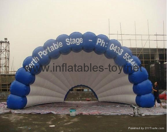 Inflatable stage tent