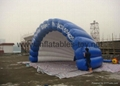 Inflatable stage shelter