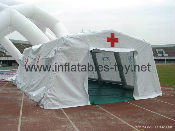 Mobile Air Tight Inflatable Red Cross Tent