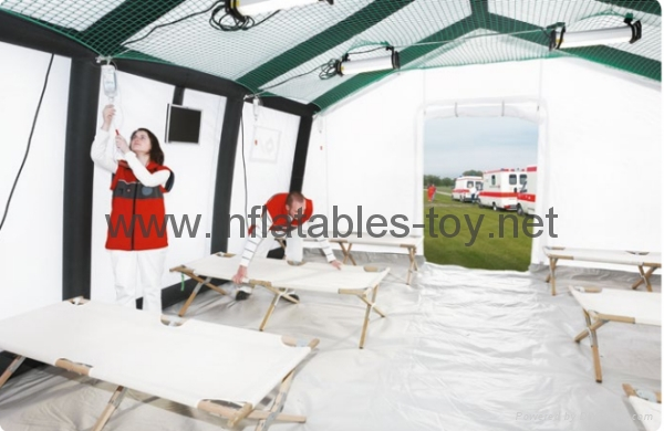 large Inflatable Mobile hospitals , PVCfabric Inflatable Shelters 3