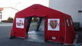 Inflatable relief tent, Inflatable red