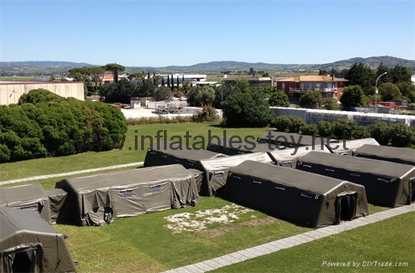 Large inflatable shelters  for emergency response,Inflatable military tent, 6