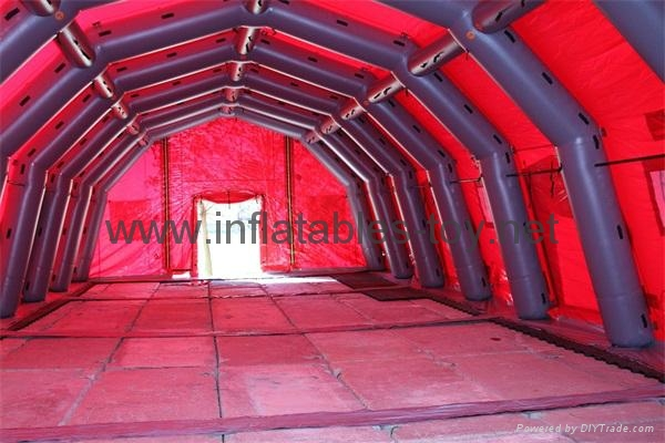 Outdoor Inflatable Military Tent, Inflatable Structure Tent , Red Cross tent 4
