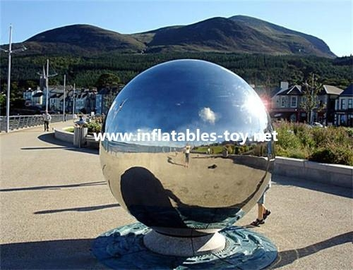 Full color Large Mirrorr Ball Inflatable Advertising Balloons