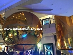 Inflatable Decorative Mirror Balls, Fashion Show Silver Balloon Decorations