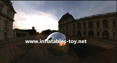 Outdoor Inflatable Mirror Balls Show