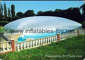 Clear Inflatable Pool Dome Tent, Inflatable Bubble Dome Tent for Pool Cover 8