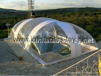 Clear Inflatable Pool Dome Tent, Inflatable Bubble Dome Tent for Pool Cover 6