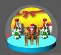 Christmas Snow Globe with Snowman and Christmas Tree 5