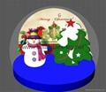 Christmas Snow Globe with Snowman and Christmas Tree 3