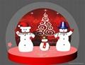 Christmas Snow Globe with Snowman and Christmas Tree 4